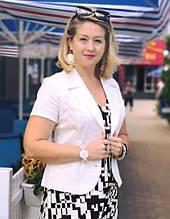 Жакет  белый летний джинс классический крой Жк 007-3