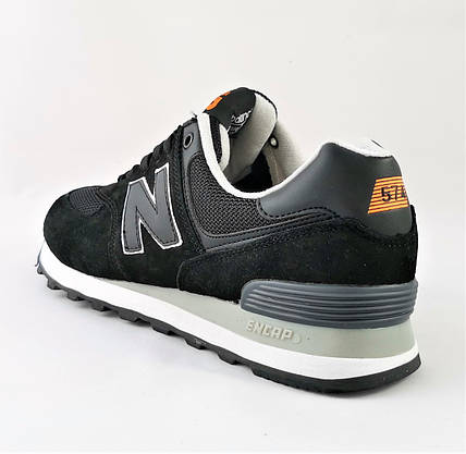 Мужские Кроссовки New Balance 574 Черные (размеры: 41,42,43,44,46) Видео Обзор, фото 3