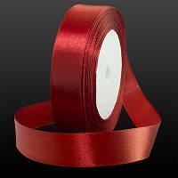 Лента Атласная 20мм, Цвет: Красный, Ширина: 20мм, около 25м/катушка, (УТ0003451)