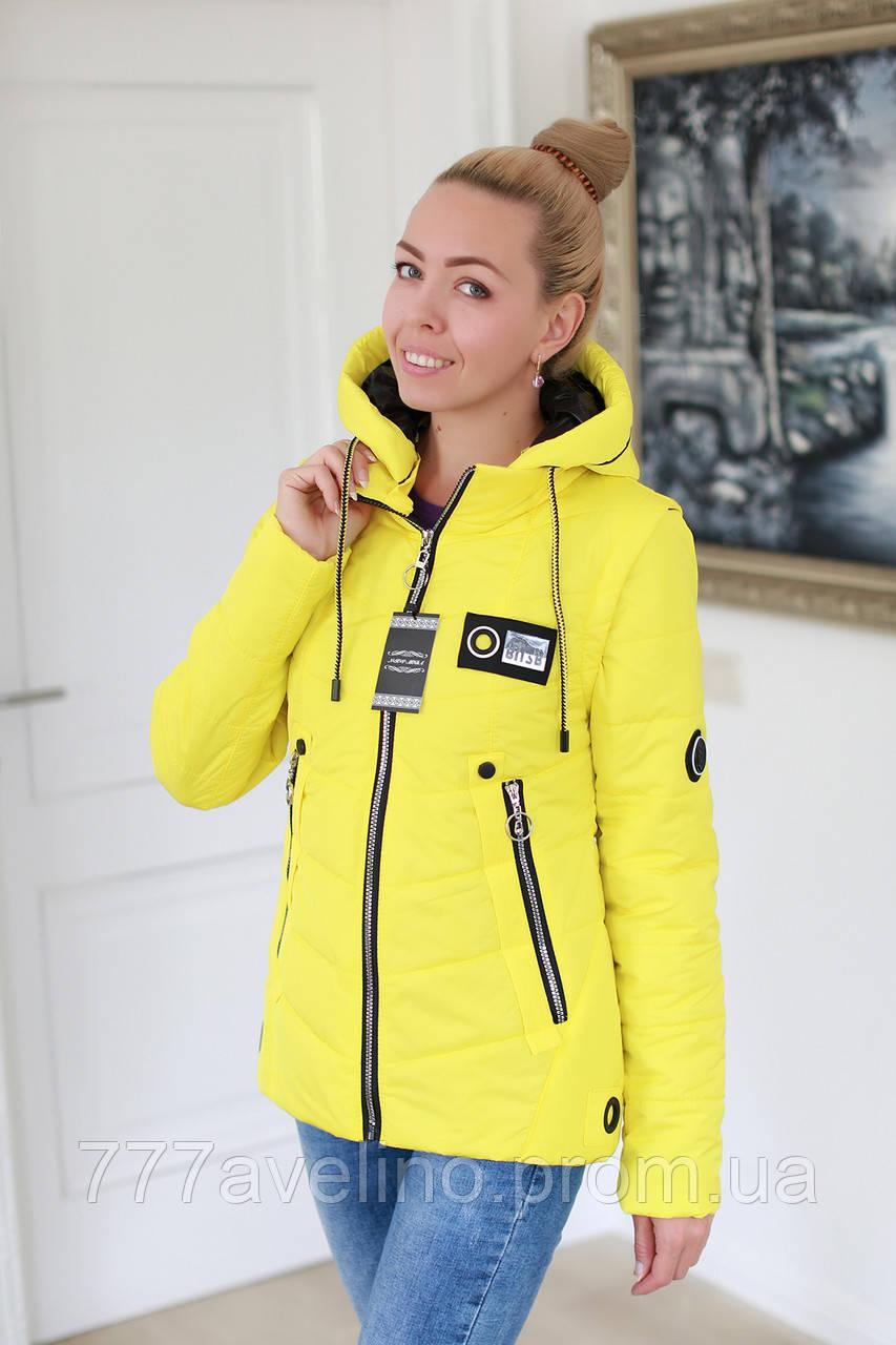 Куртка жіноча демісезонна трансформер в жилет (розміри з 44 по 48)