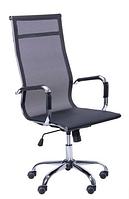 Зручне офісне комп'ютерне крісло на колесиках Slim Net HB (XH-633) чорний
