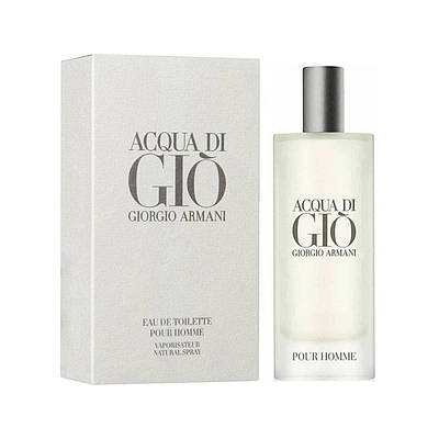 Чоловічий аромат мініатюра GIORGIO ARMANI Acqua di Gio Pour Homme 15ml, свіжий морський з нотою цитрус ОРИГІНАЛ