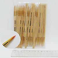 Кисть для рисования нейлон № 1 деревянная ручка кисть нейлон круглая 1