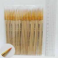 Кисть для рисования нейлон № 2 деревянная ручка кисть нейлон круглая 2