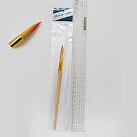 Кисть для рисования нейлон № 6 деревянная ручка кисть нейлон круглая 6