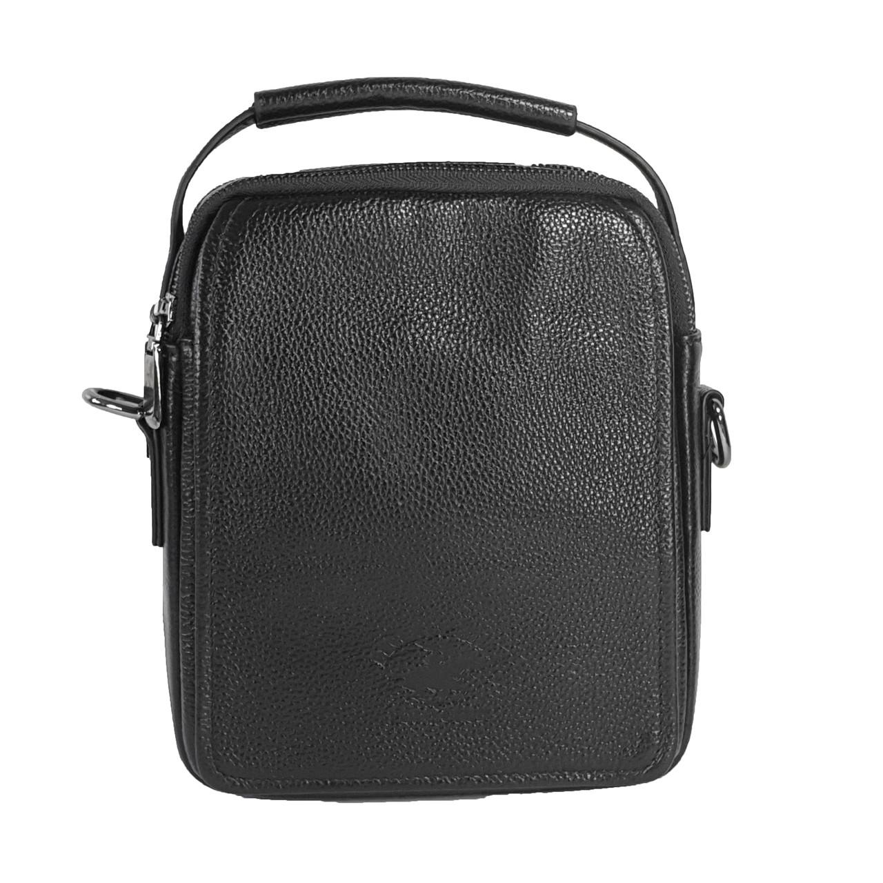 Мужская сумка из натуральной кожи с клапаном Polo