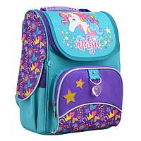 Рюкзак для девочки в школу Unicorn, 1-4 класс, каркасный, ортопедический