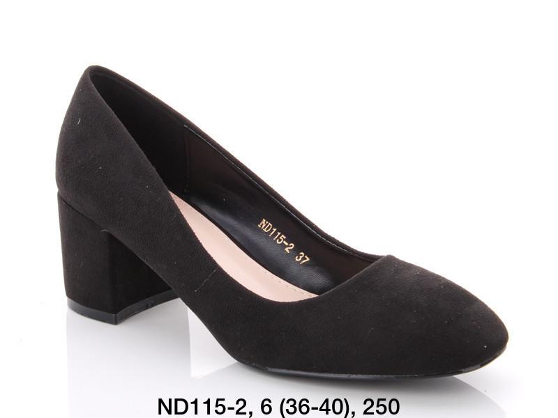 Туфли женские на каблуке черные Teetspace-Trasta-Egga-ND115-2