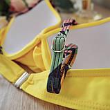Купальник женский раздельный с асимметричными плавками (желтый) L, фото 7