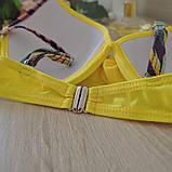 Купальник женский раздельный с асимметричными плавками (желтый) L, фото 6