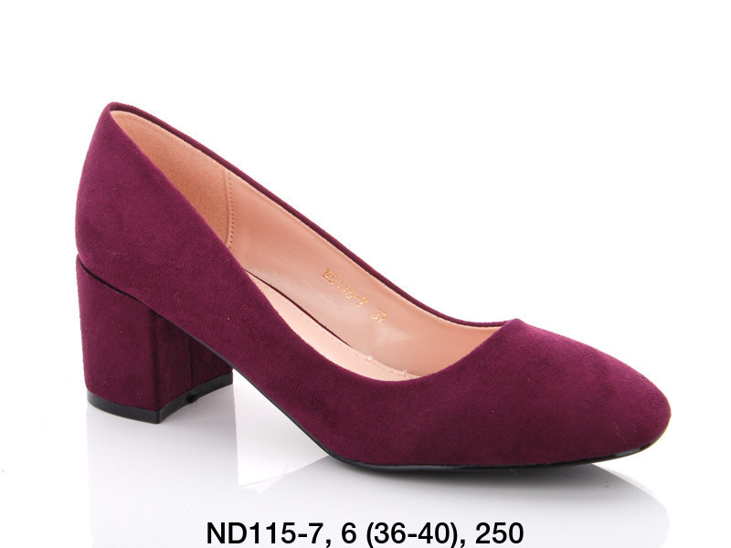 Туфли женские на каблуке фиолетовые Teetspace-Trasta-Egga-ND115-7