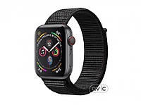 Apple Watch GPS + Cellular 40mm Space Gray Aluminum Case with Black Sport Band Loop (MTVF2)