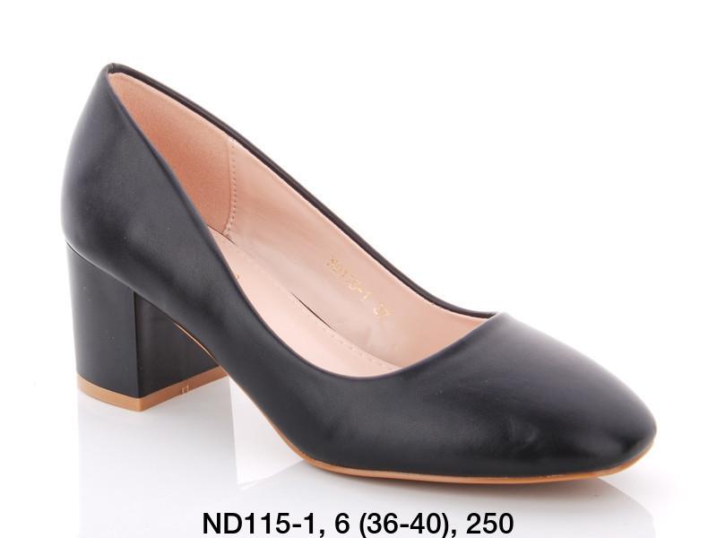 Туфли женские на каблуке черные Teetspace-Trasta-Egga-ND115-1
