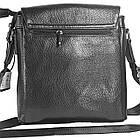 Мужская сумка из натуральной кожи с клапаном, большая, фото 2