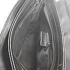 Мужская сумка из натуральной кожи с клапаном, большая, фото 6