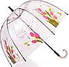 Замечательный зонт-трость женский механический прозрачный ZEST (ЗЕСТ) Z51570-7