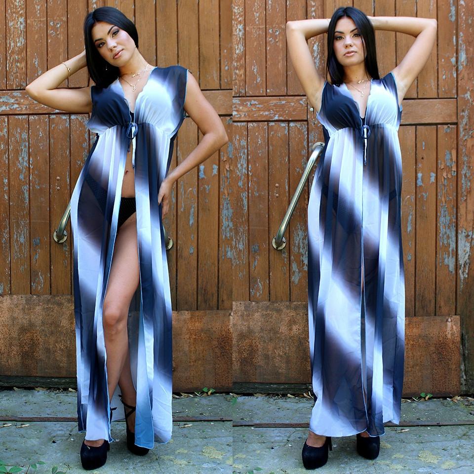 Пляжное платье длинное шифоновое