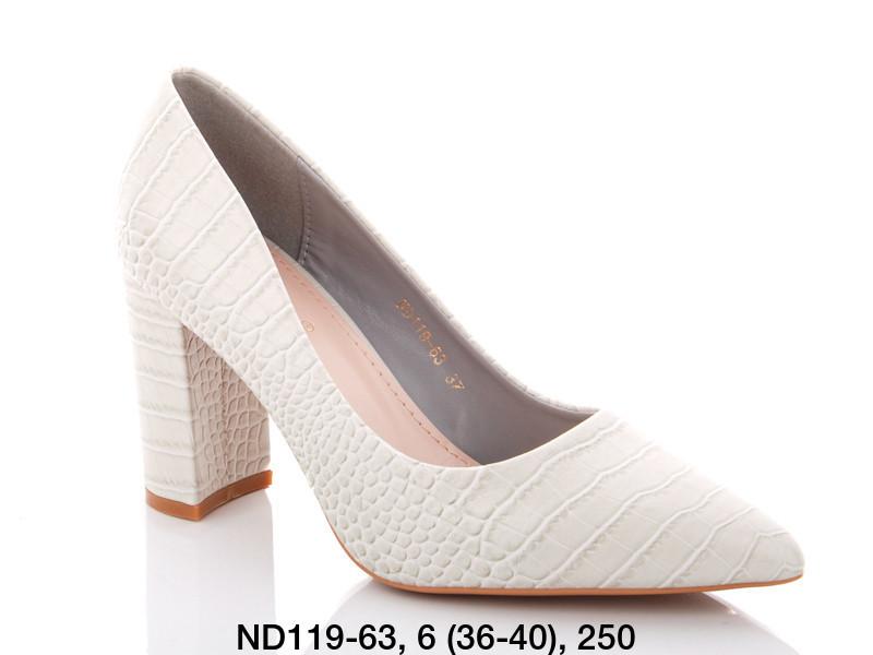 Туфли женские на каблуке белые Teetspace-Trasta-Egga-ND119-63