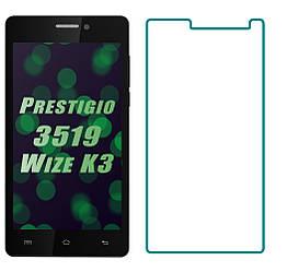 Защитное стекло Prestigio 3519 Wize K3 (Прозрачное 2.5 D 9H) (Престижио Вайз К3 3519)