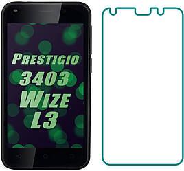 Защитное стекло Prestigio 3403 Wize L3 (Прозрачное 2.5 D 9H) (Престижио Вайз Л3 3403)
