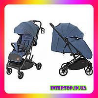 Детская прогулочная коляска CARRELLO Presto CRL-9002 Thunder Blue + дождевик синий цвет. Дитячий візок