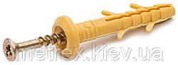 Дюбель з шурупом для швидкого монтажу 6х100 гриб, 100 шт.