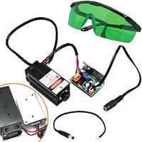 Мощный лазер для резки гравировки 5.5Вт 450нм TTL + защит. очки, 102675
