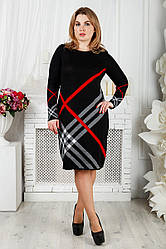 Теплое платье большого размера Николь