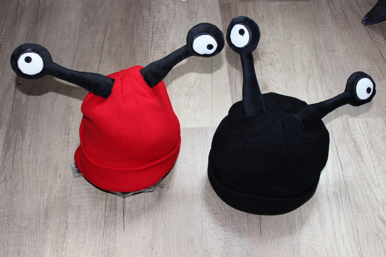 Детская шапка Улитка  Рожки, шапочка с рожками, глазками, глазами до 3 лет
