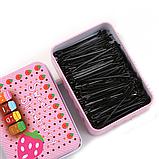 Невидимки для волос черные, набор из 150 шт в подарочной коробке, фото 3