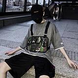 Бронежилет HGUL+BAG нагрудная сумка 0004 черная, фото 8