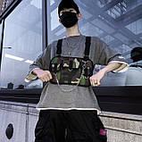 Бронежилет HGUL+BAG нагрудная сумка 0004 черная, фото 10