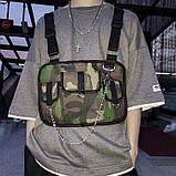 Бронежилет HGUL+BAG нагрудная сумка 0004 хаки, фото 2