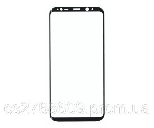 Защитное стекло захисне скло Samsung S8 Plus, G955 чорний 3D (тех.пак) поклейка по рамці