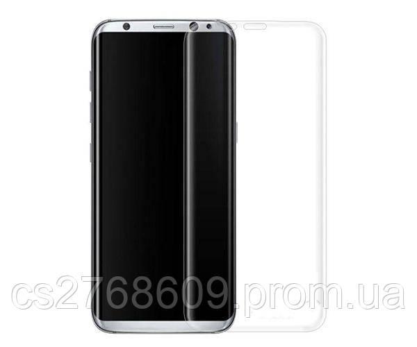 Защитное стекло захисне скло Samsung S8 Plus, G955 прозорий 3D (тех.пак) поклейка по рамці