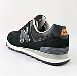 Мужские Кроссовки New Balance 574 Черные (размеры: 43,44,45,46) Видео Обзор, фото 6