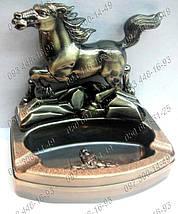 Необычные подарки Пепельница с зажигалкой Лошадь №0616 Идеи подарка Предмет интерьера Атрибут для курильщиков , фото 2