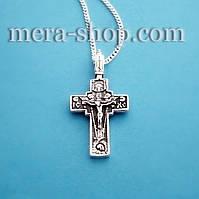 Мужской нательный крест из серебра (кр-33)