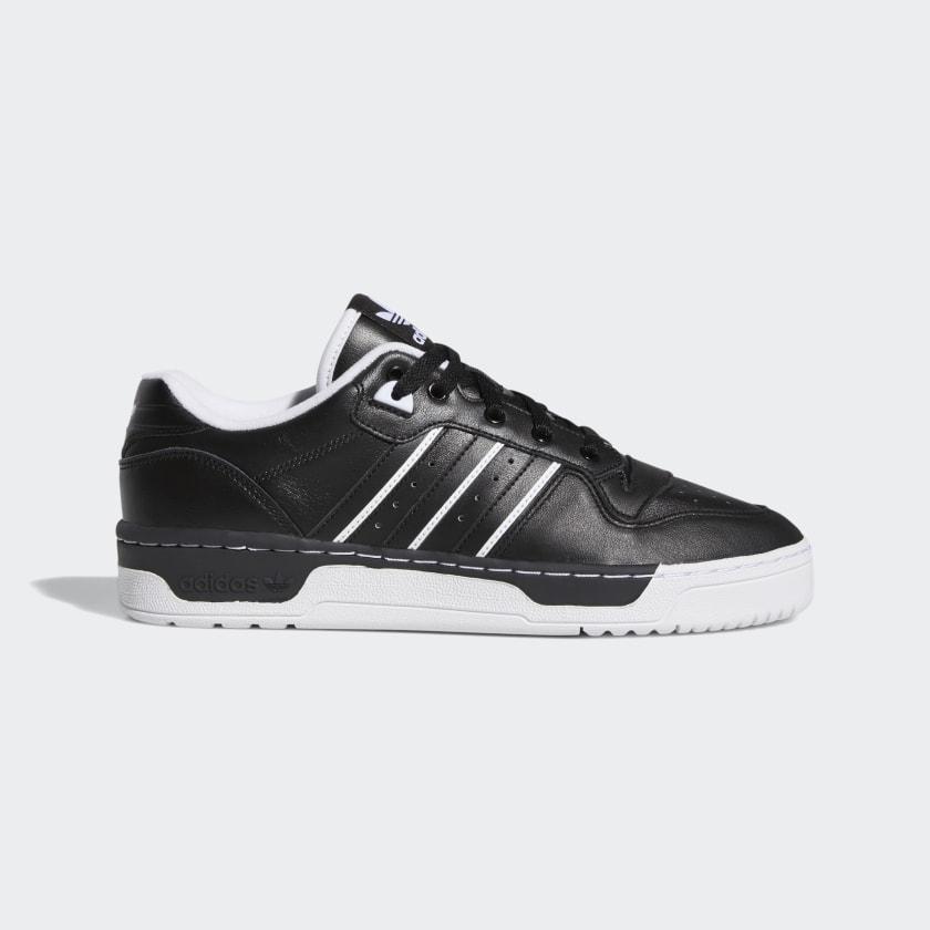 Кроссовки мужские оригинальные Adidas Rivalry Low кожаные черные