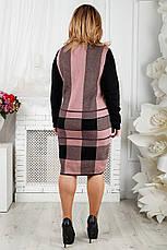 Вязаное теплое платье для полных Стрелочка, фото 3