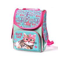 Ортопедический рюкзак для девочки в школу Cute Cat, 1-4 класс, объем 10 л