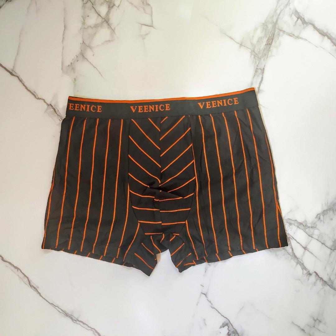 Трусы мужские полоска оранжевая 48-50 размер