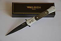 Купить Нож Pro-tech The Don Carbon clip Black