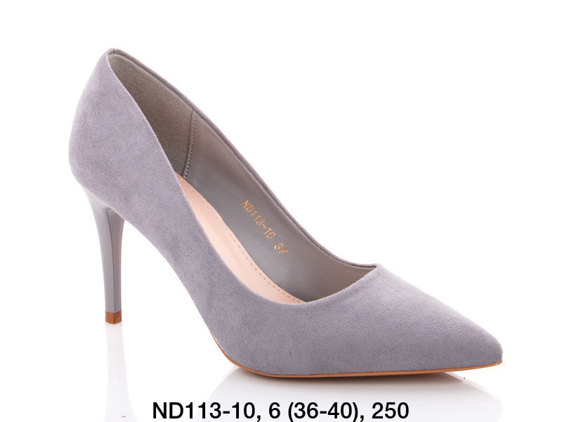 Туфли женские на каблуке голубые Teetspace-Trasta-Egga-ND113-10