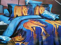 Двухспальный постельный комплект-Львы
