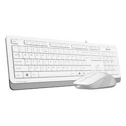 Клавіатура USB класична + мишка A4Tech Fstyler F1010 White