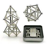 Магнитный конструктор неокуб Neocube 36 шт. магнитные палочки и 26 шт. стальные шарики Серебро 181091