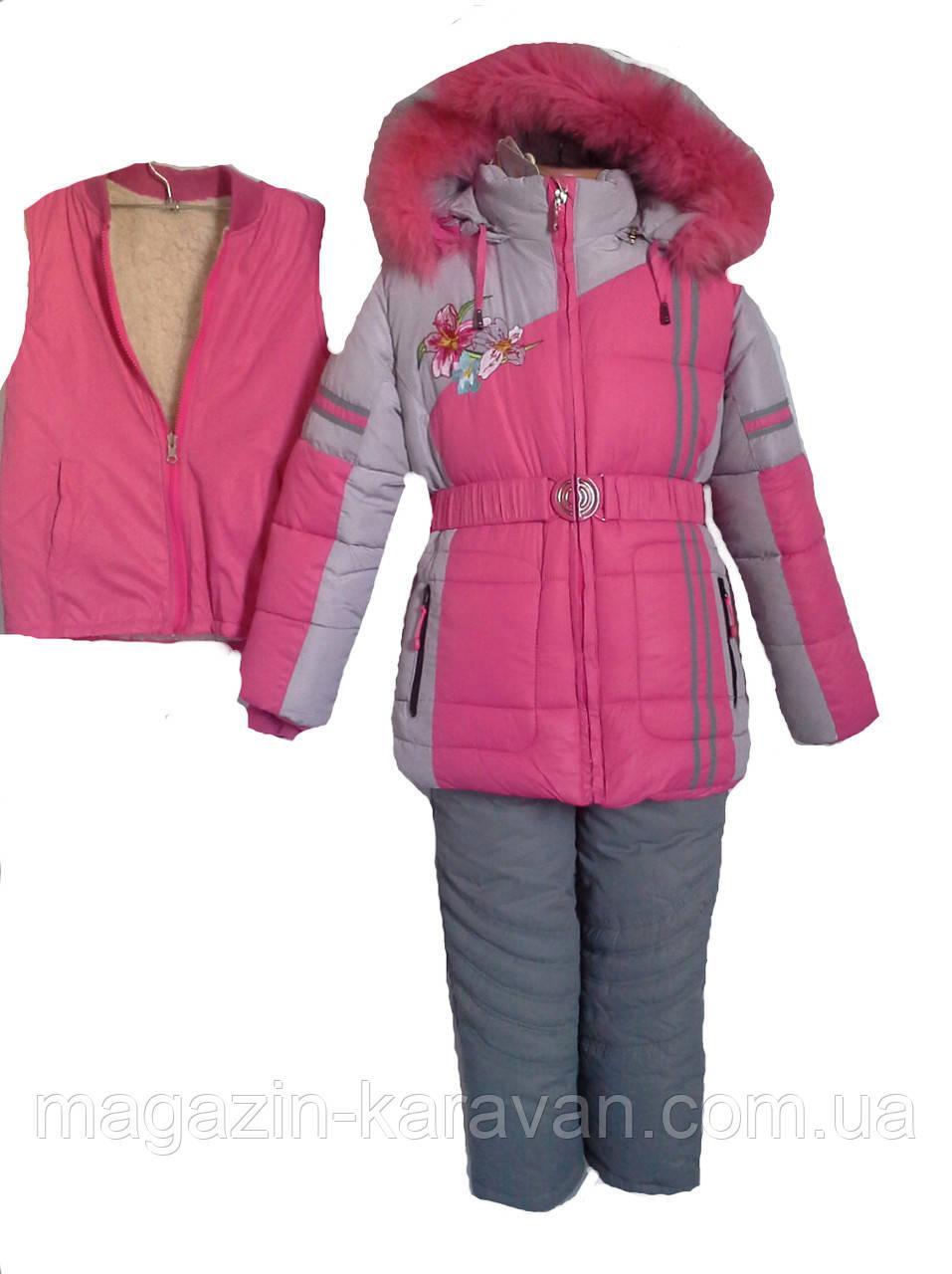 Комбинезон зимний для девочки. f-6262-1