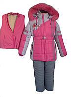 Комбинезон зимний для девочки. f-6262-1, фото 1