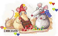 Мышки шоколадницы  Схема вышивки бисером